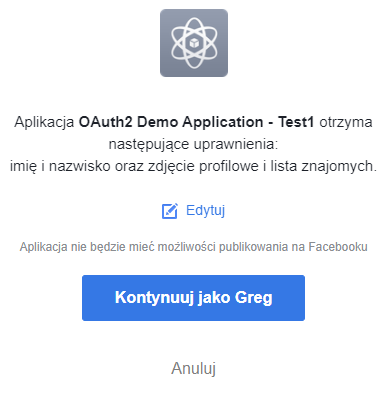 OAuth2 Authorization Code Flow Consent